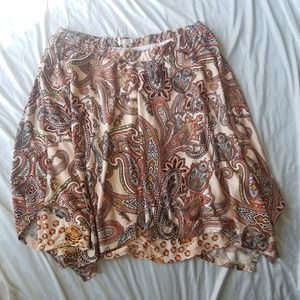 Cato multicolored paisley skirt 18/20W boho